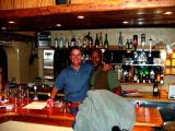 Johnny and Kevin tending the bar