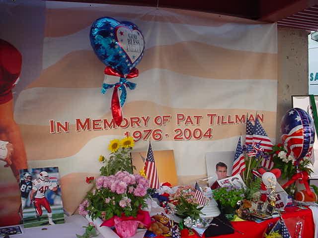 in memory of<br>Pat Tillman