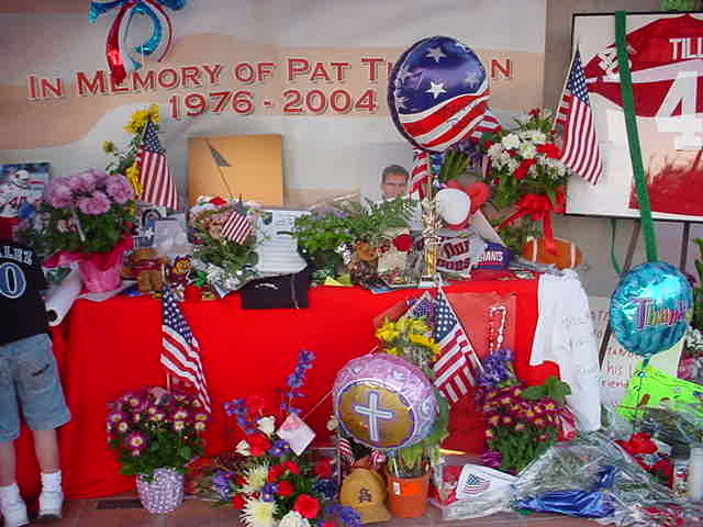 Pat Tillman<br>memorial tribute
