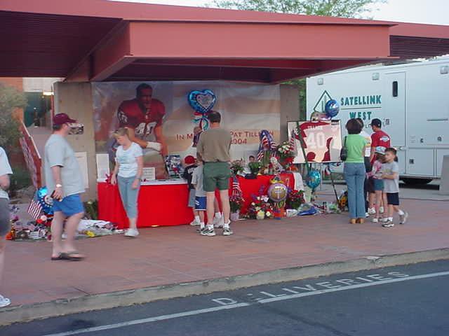 Pat Tillman<br>memorial tribute