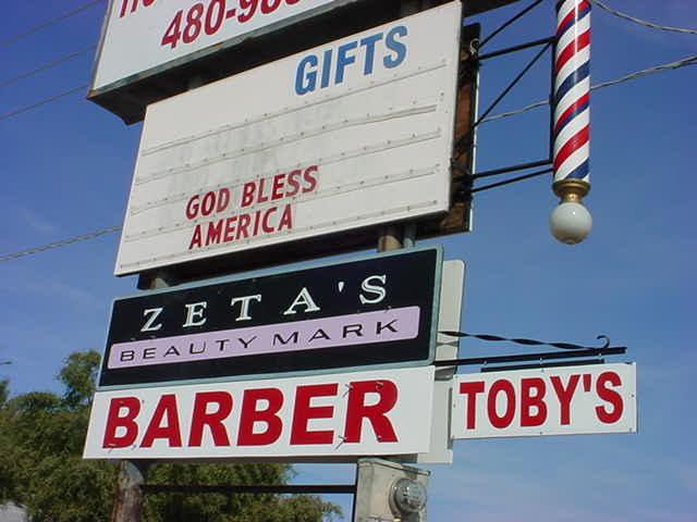 Tobys Barber Shop <br>480-325-7436