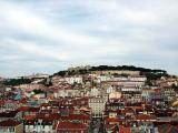 A view of the Castelo se Sao Jorge  from the Sta. Justa Lift