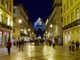 The Arch from Rua Augusta at night