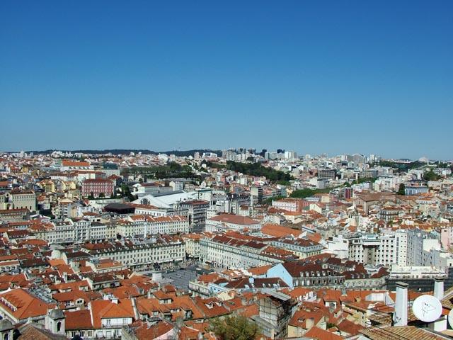 The city from the Castelo de Sao Jorge
