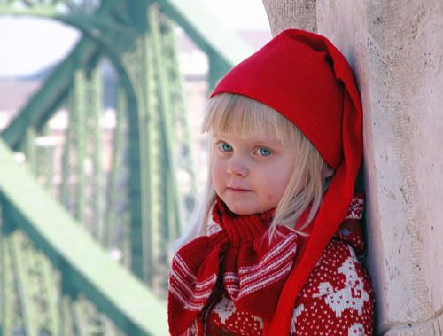 Cute little Budapest citizen (...although she is actually Finnish!)