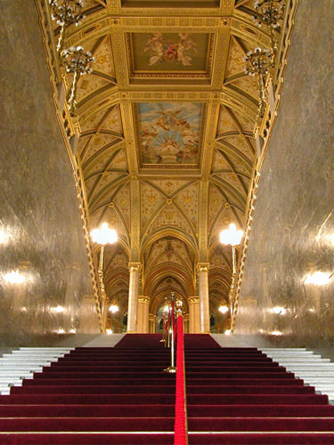 Main entrance stairway at the Parliament