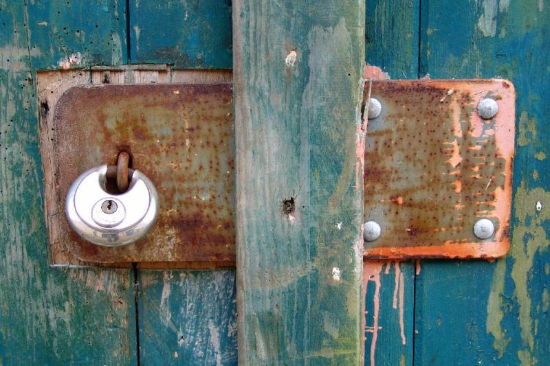 Rusty lockplate