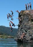 Jumping Rock at Hoopa