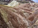 Colored folded hills