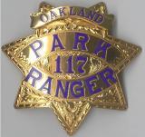 fully hand engraved oakland ca park ranger badge