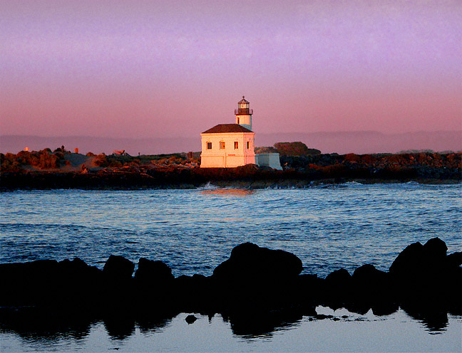 Coquille Lighthouse At Twilight