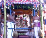 pArthasArathi inside the ratham