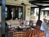 Arrival at the Livingstone (don't like the rugs)