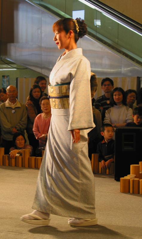 Model in a Japanese Fashion Show