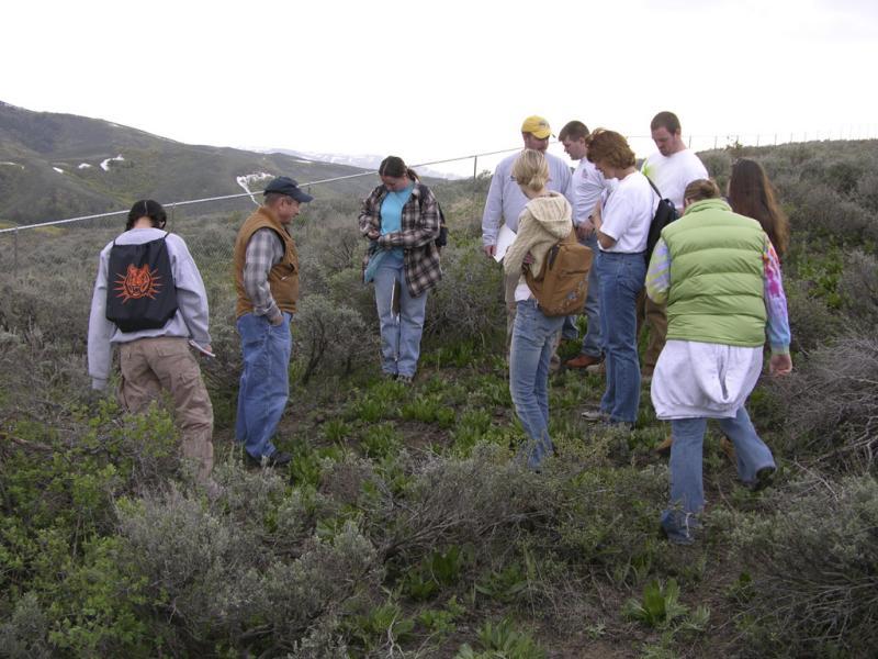 Botanist Dr. Karl Holte teaching his ISU Spring Flora class DSCN1545