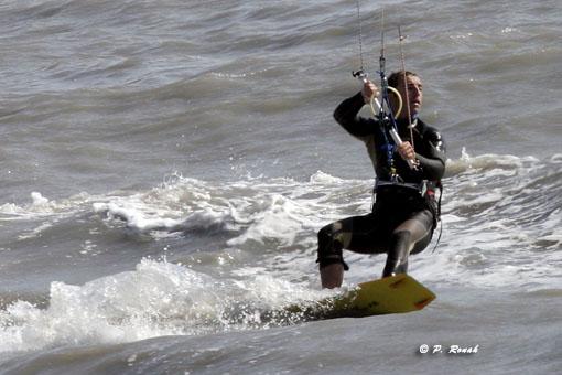 Rider sur le surf
