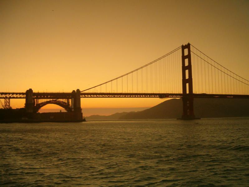 Filtered light, Golden Gate Bridge, Golden Gate National Recreation Area, San Francisco, California