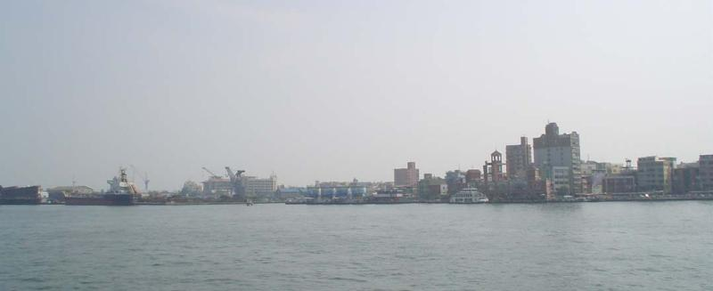 On the ferry to Qi Jing