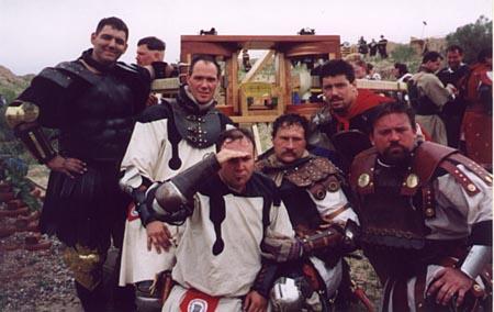 Corvus Warriors at Estrella War Feb 2001 Lars, Jay, Rene, Dan, Jack and Subi aka Chris