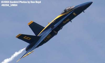 USN Blue Angels F/A-18 Hornet #6 military aviation air show stock photo #0256