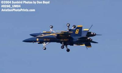 USN Blue Angels F/A-18 Hornets military aviation air show stock photo #0260