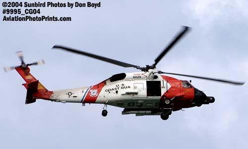 2004 - Coast Guard HH-60J Jayhawk #6025 at the Air & Sea practice show - Coast Guard aviation stock photo #9995