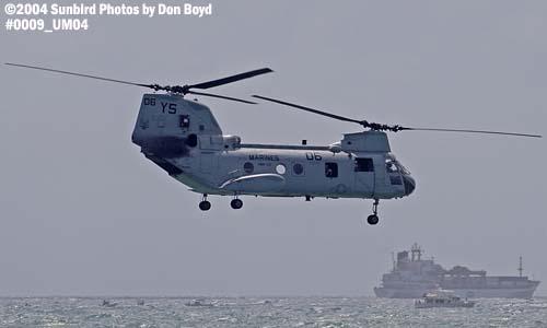 USMC CH-46E Sea Knight military aviation air show stock photo #0009