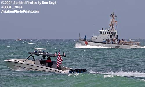 2004 - Department of Homeland Security patrol boat and CGC GANNET (WPB 87334) at the Air & Sea Show, air show stock photo #0031