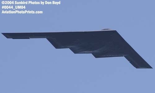 USAF B-2 Spirit stealth bomber military aviation air show stock photo #0044