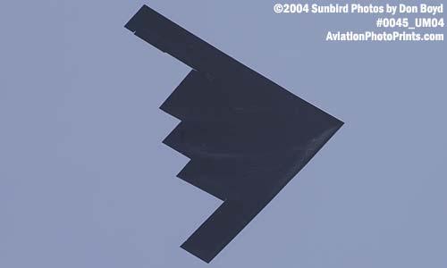 USAF B-2 Spirit stealth bomber military aviation air show stock photo #0045