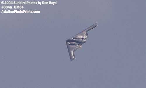 USAF B-2 Spirit stealth bomber military aviation air show stock photo