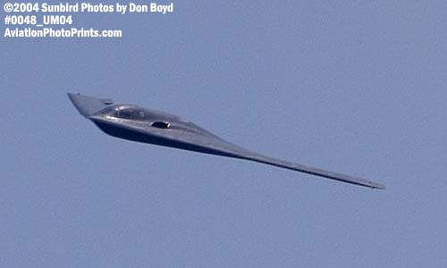 USAF B-2 Spirit stealth bomber military aviation air show stock photo #0048