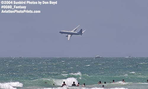 B737-800 off the beach at Ft. Lauderdale - aviation fantasy stock photo #0080