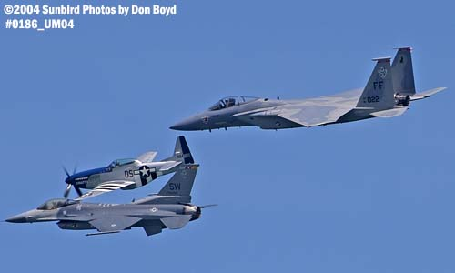 USAF Heritage Flight at the Air & Sea Show military aviation air show stock photo #0186