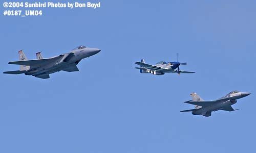USAF Heritage Flight at the Air & Sea Show military aviation air show stock photo #0187