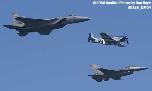 USAF Heritage Flight at the Air & Sea Show military aviation air show stock photo #0188