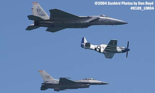 USAF Heritage Flight at the Air & Sea Show military aviation air show stock photo #0189