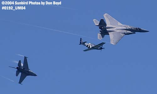 USAF Heritage Flight at the Air & Sea Show military aviation air show stock photo #0192