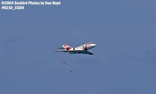 2004 - Coast Guard HU-25 Falcon #2117 pump drop at the Air & Sea Show - Coast Guard and aviation stock photo #0210