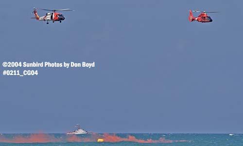 2004 - Coast Guard HH-60J Jayhawk and HH-65 Dolphin at the Air & Sea Show - Coast Guard and aviation stock photo #0211