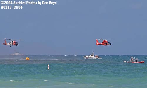 2004 - Coast Guard HH-60J Jayhawk and HH-65 Dolphin at the Air & Sea Show - Coast Guard and aviation stock photo #0213