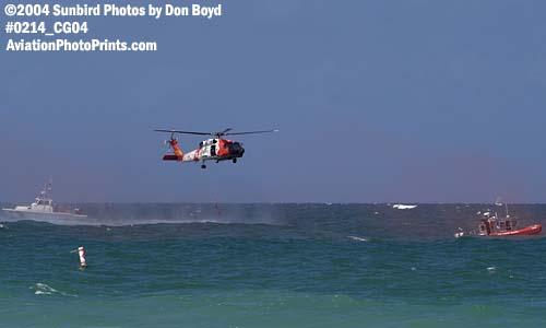 2004 - Coast Guard HH-60J Jayhawk at the Air & Sea Show - Coast Guard and aviation stock photo #0214