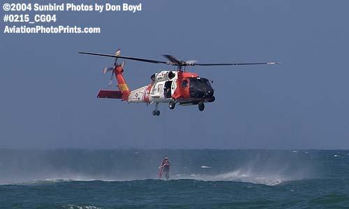 2004 - Coast Guard HH-60J Jayhawk hoist operation at the Air & Sea Show - Coast Guard and aviation stock photo #0215