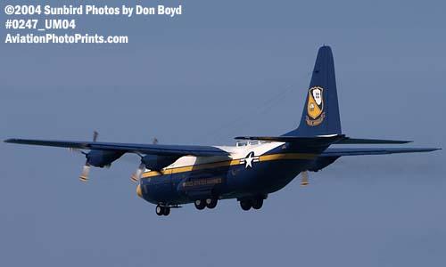 USMC Blue Angels C-130 Fat Albert at the Air & Sea Show military aviation air show stock photo #0247