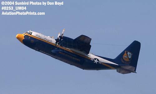 USMC Blue Angels C-130 Fat Albert military aviation air show stock photo #0253
