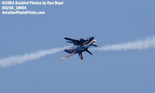 USN Blue Angels F/A-18 Hornets military aviation air show stock photo #0258