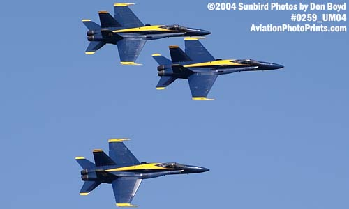 USN Blue Angels F/A-18 Hornets military aviation air show stock photo #0259