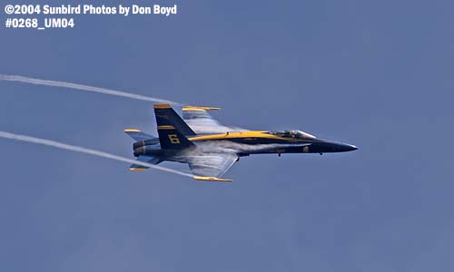 USN Blue Angels F/A-18 Hornet #6 military aviation air show stock photo #0268