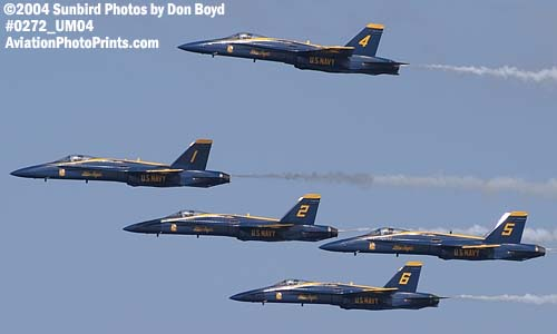 USN Blue Angels F/A-18 Hornets military aviation air show stock photo #0272