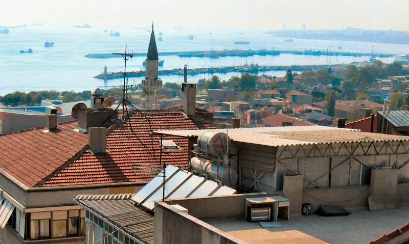 Istanbul view from Hotel Fehmi Bey  rooftop 1